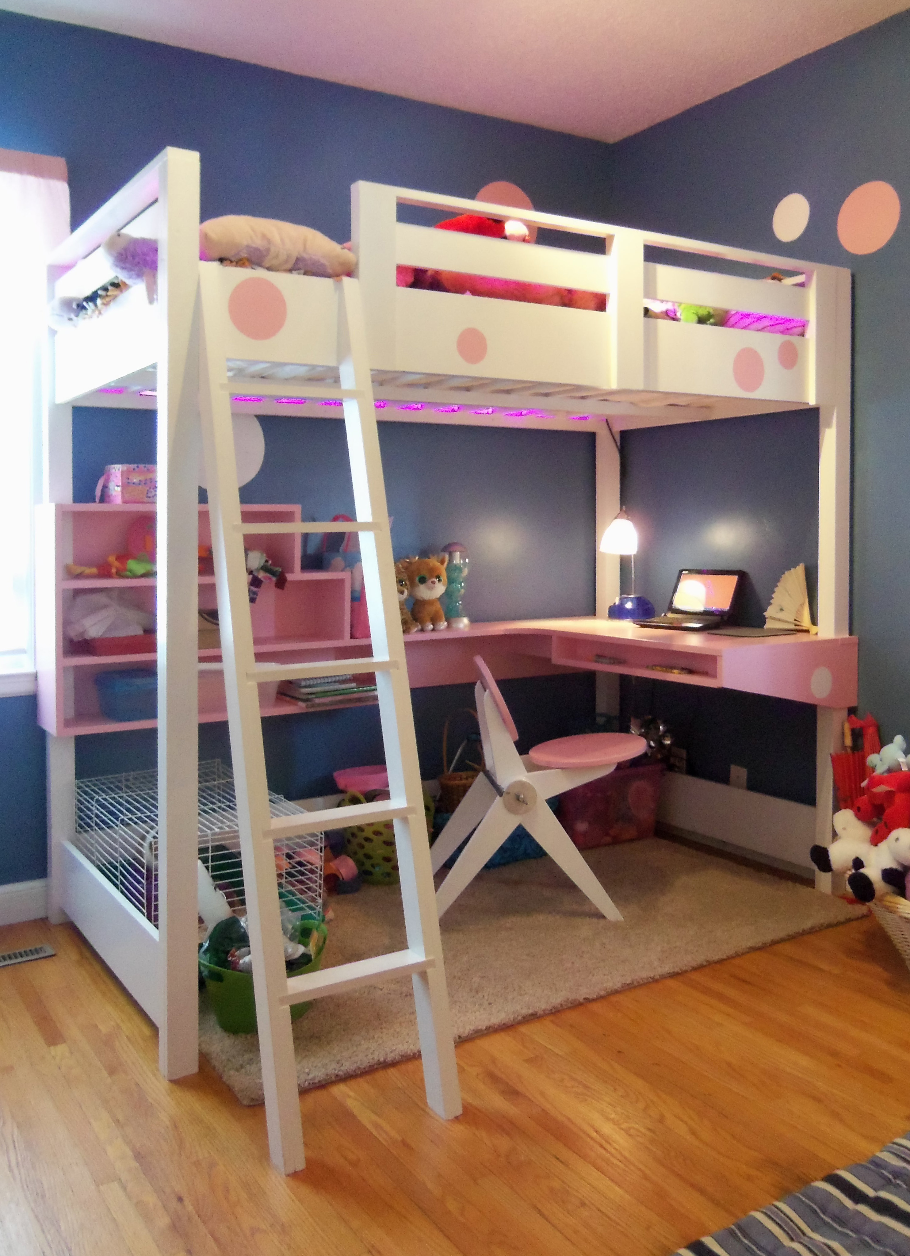 Ana White | Loft bed with desk... - DIY Projects