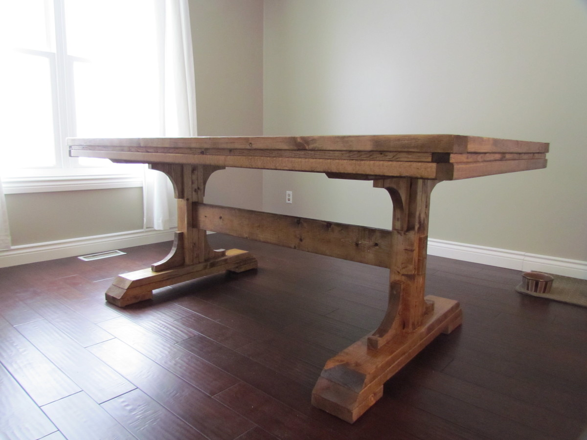 Ana White Double Pedestal Farmhouse Table DIY Projects