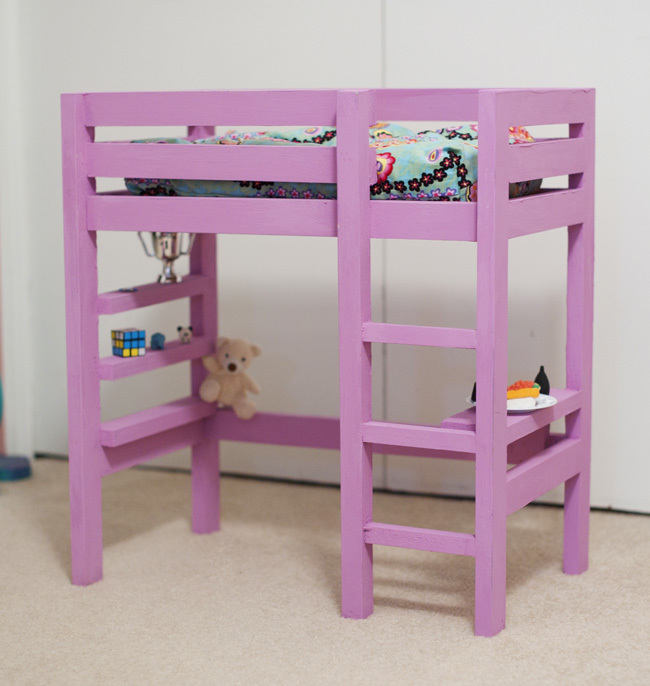 Doll Bunk Bed plan with a bit of the Loft Bed plan | Do It Yourself ...