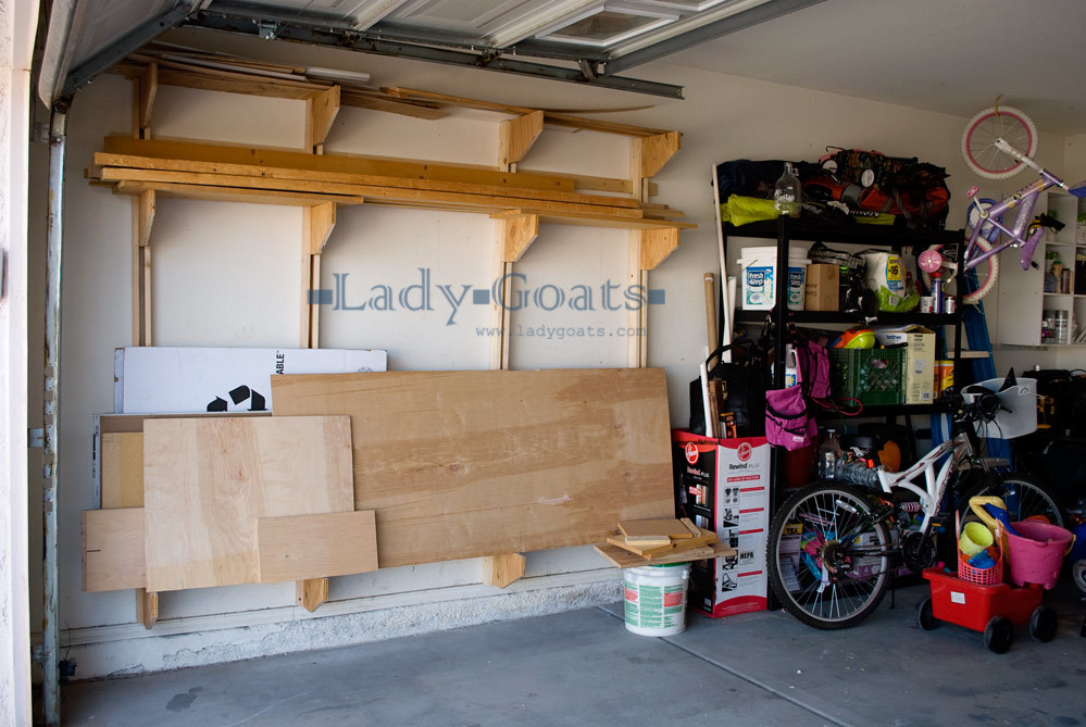 Wood Storage Rack For Garage