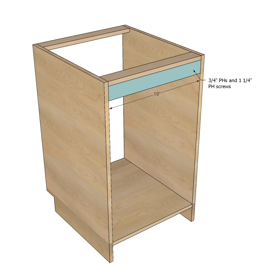 ana white face frame base kitchen cabinet carcass diy
