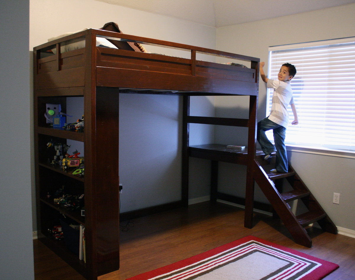 Loft Bunk Beds with Stairs 3287 x 2592