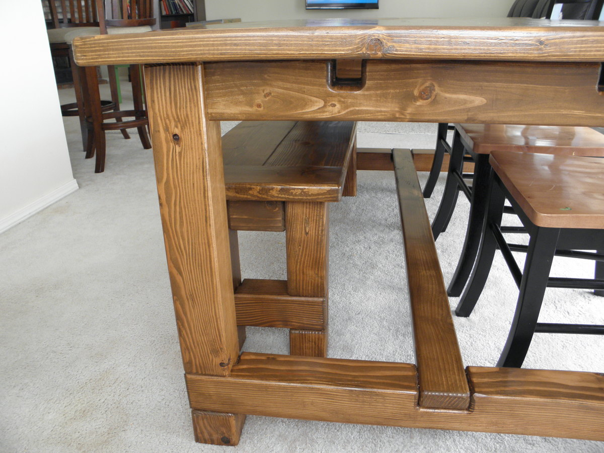 my second farmhouse table and much easier this time around like the
