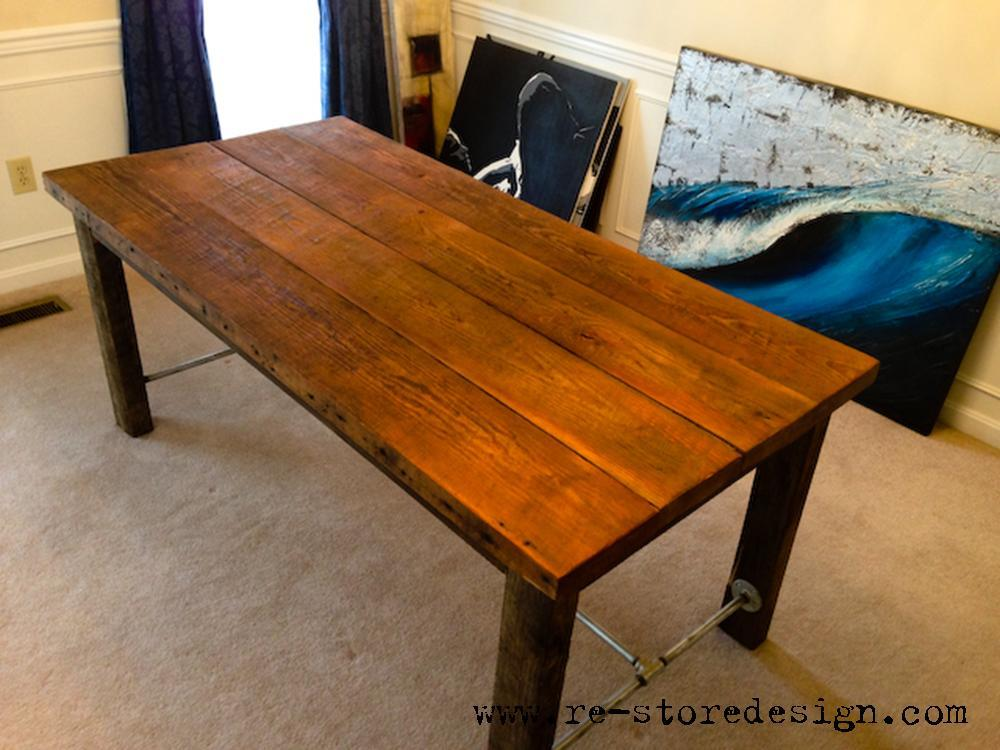 ... reclaimed wood farm table reclaimed rough sawn wood i made this out of