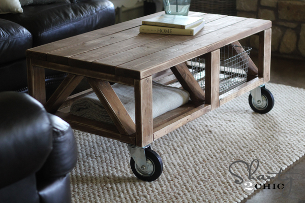 easy to make coffee table plans