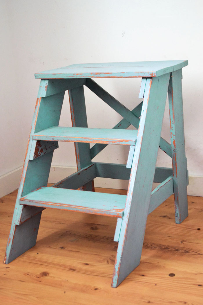 Free plans to build this vintage x back step stool from ana-white.com