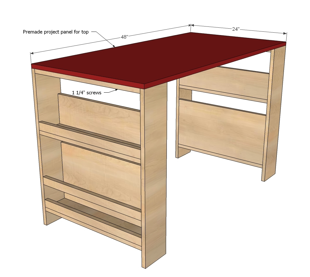 DIY Kids Desk Plans 1009 x 900