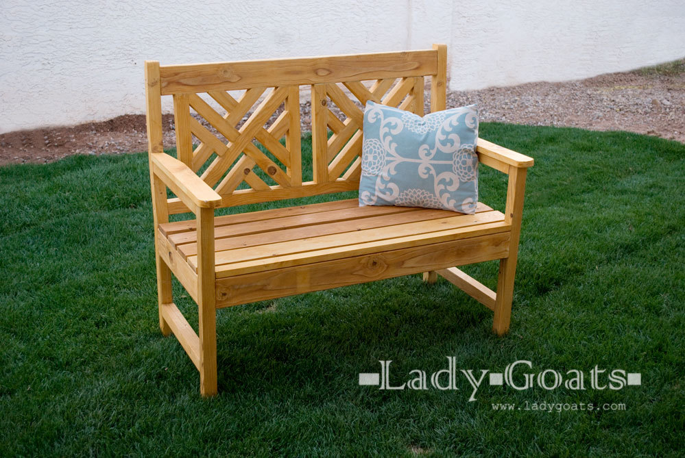 Ana white woven back bench diy projects for Diy garden bench designs