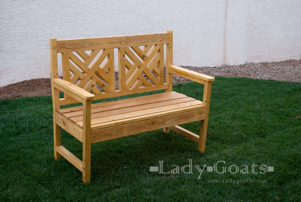 ana white woven back bench diy projects