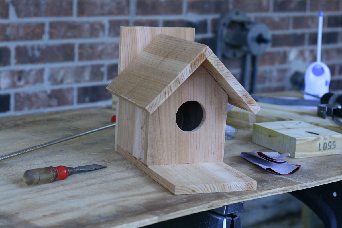 Ana white traditional bird house brag post diy projects for Birdhouse project