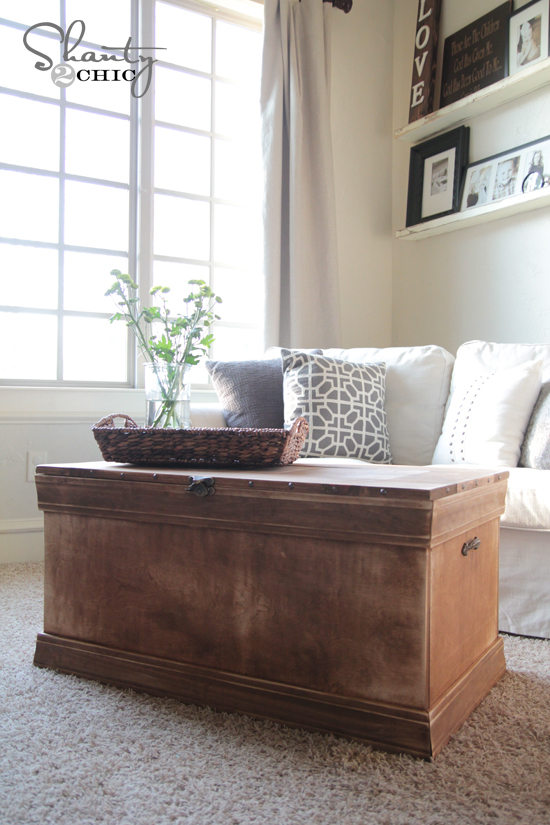 coffee table trunk plans