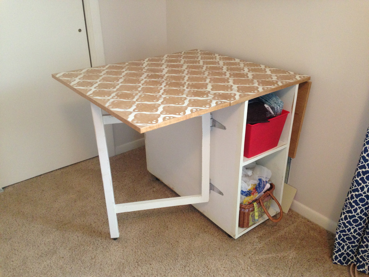 How to build sewing table plans diy pdf plans for Table design homemade