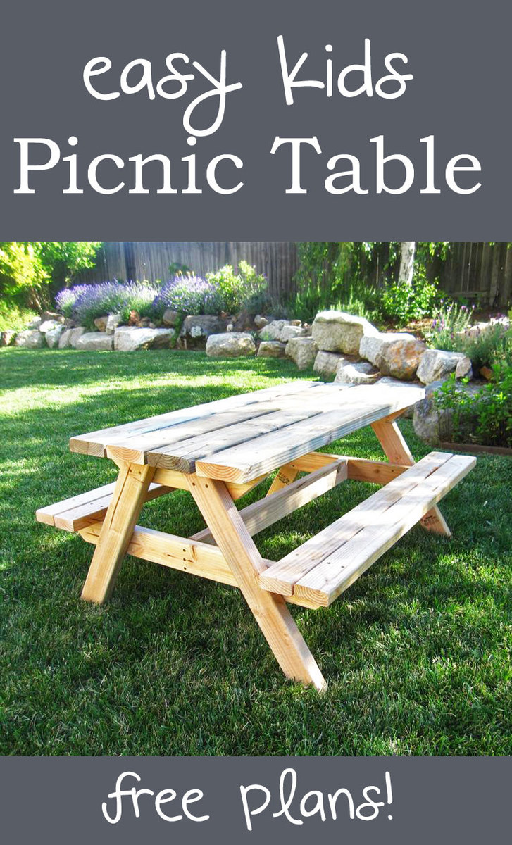 This table is a little taller than the toddler picnic table and made a ...