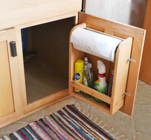 Kitchen Cabinets Diy: Kitchen Cabinet Door Organizer Paper Towel