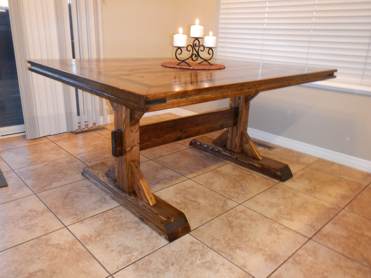 woodworking plans double pedestal dining table plans pdf plans