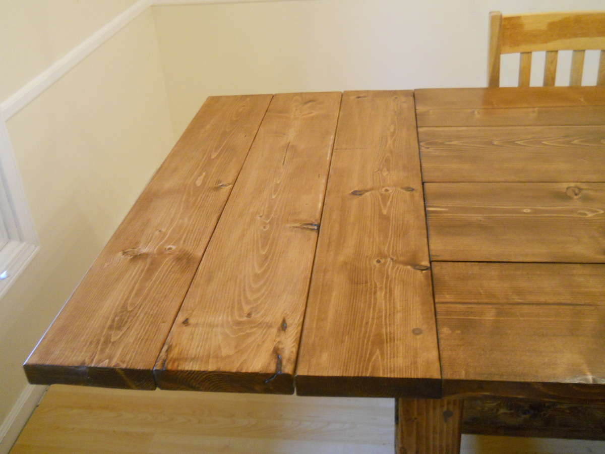 Design See Farmhouse Kitchen Table Plans Rustic End Woodworking