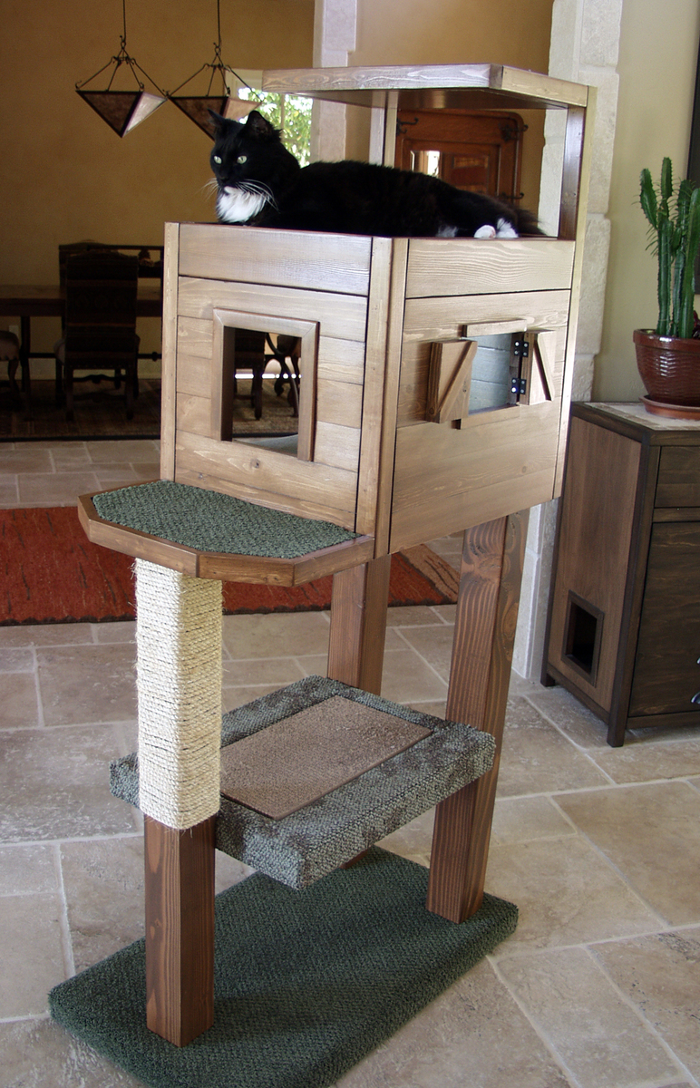 your own cat tree cat tower cat furniture for about $ 40 this dad blog ...