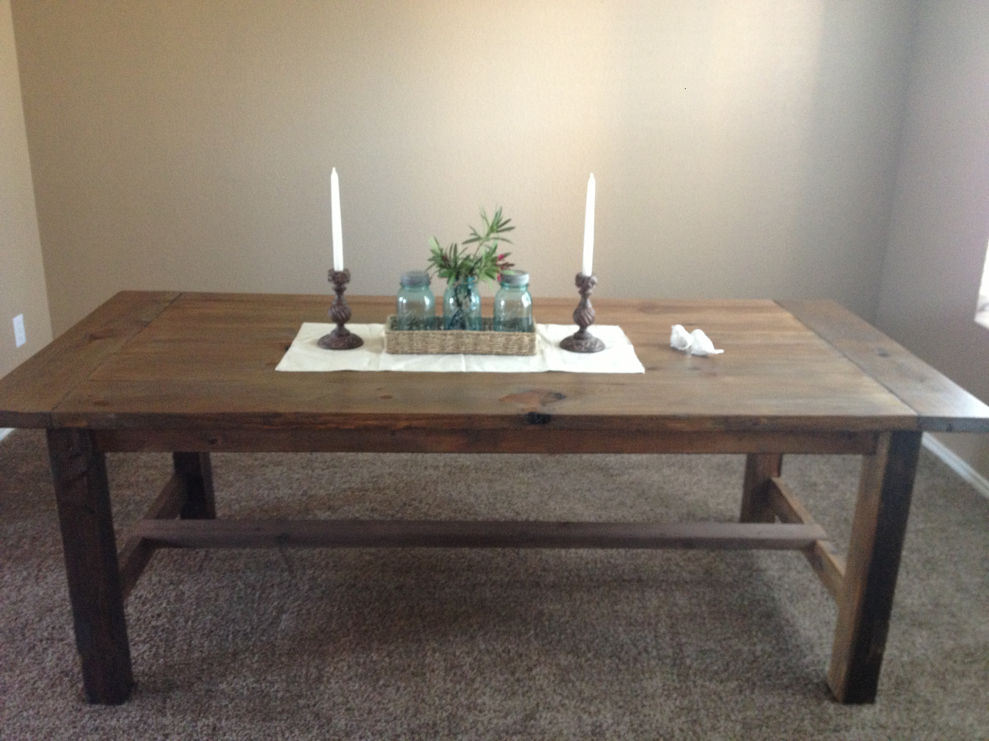 Ana White Farmhouse Dining Table With Oxidized Finish First Project