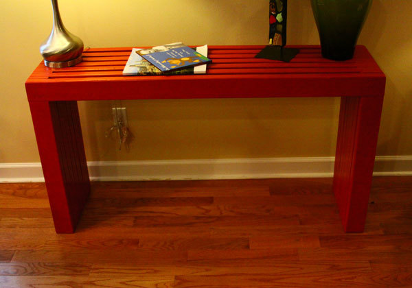 Free plans to build a modern style console table out of 2x4s! Plans ...