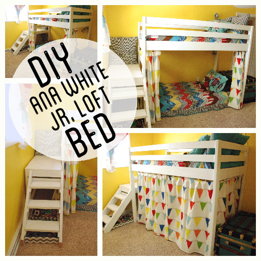DIY Jr. Camp Loft Bed with Curtain | Do It Yourself Home Projects from ...