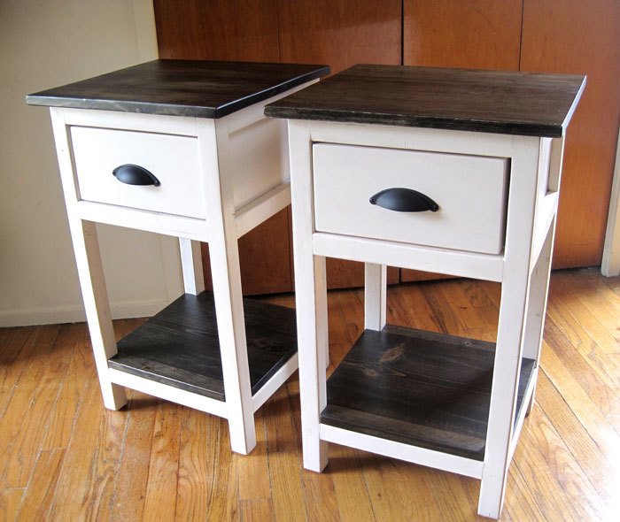 mini farmhouse bedside tables
