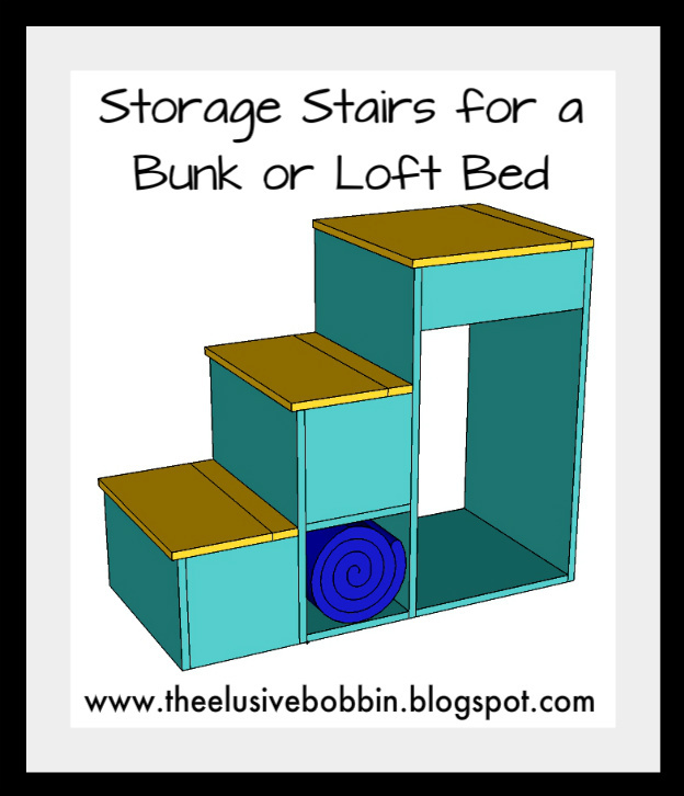 Storage Stairs for a Bunk of Loft Bed