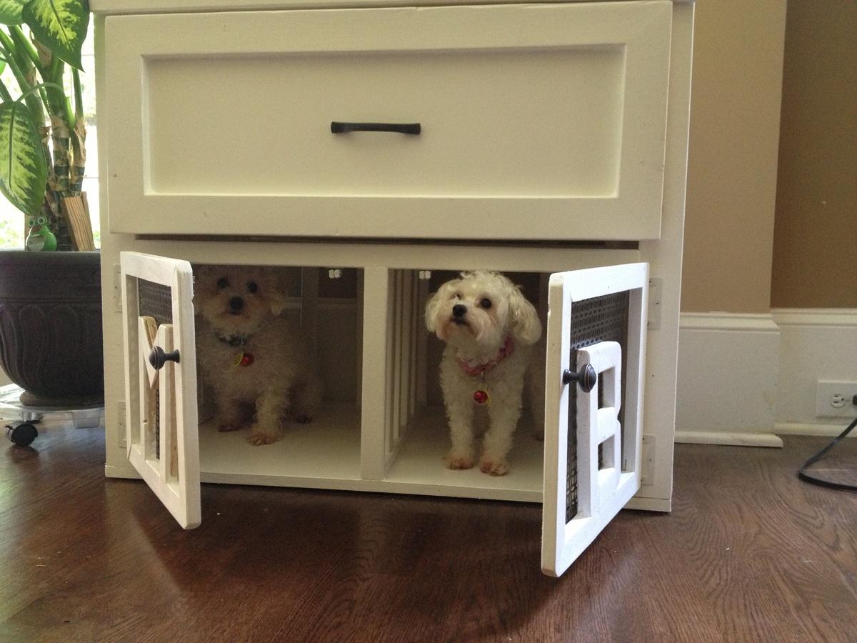 ground crate A dog crate is perfect for housetraining your pet and