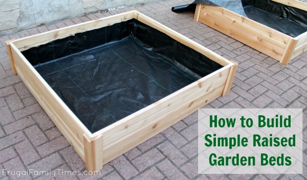 How To Build Simple Raised Garden Beds Ana White