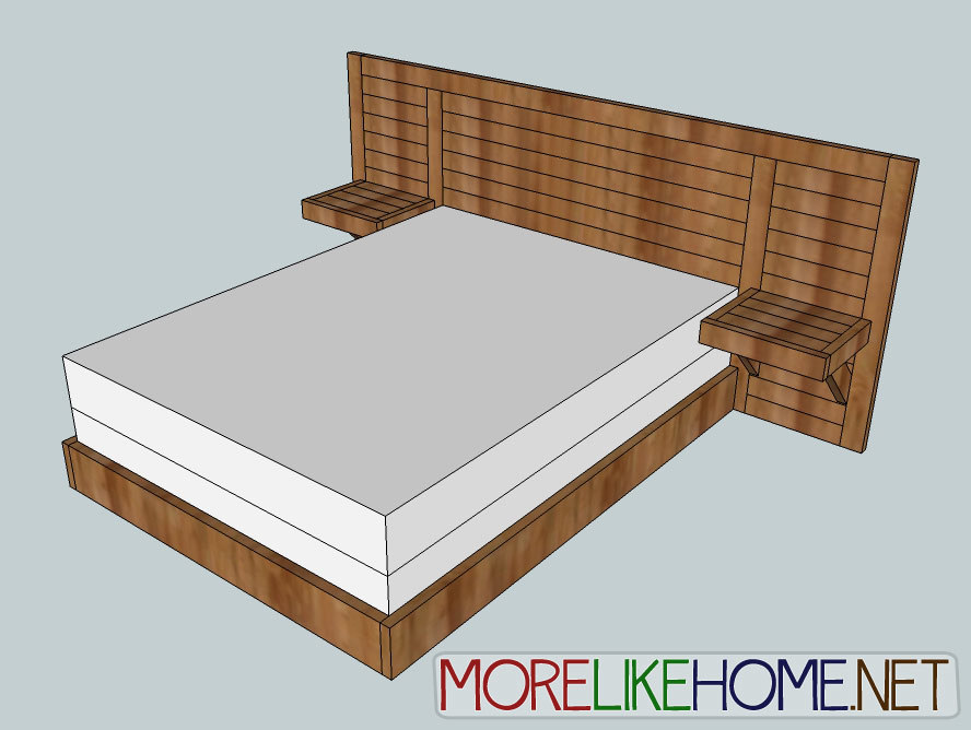 2x4 furniture plans free bed