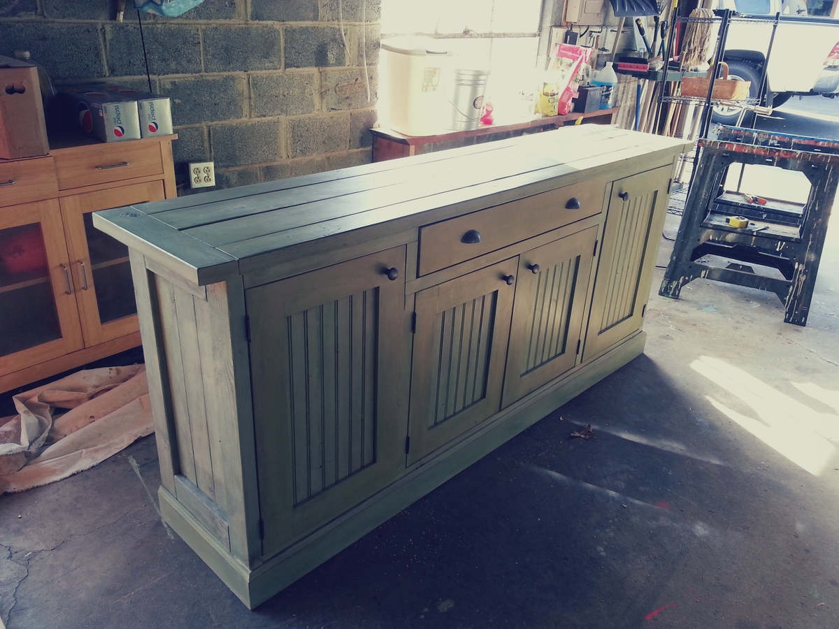 How To Build A Rustic Sideboard