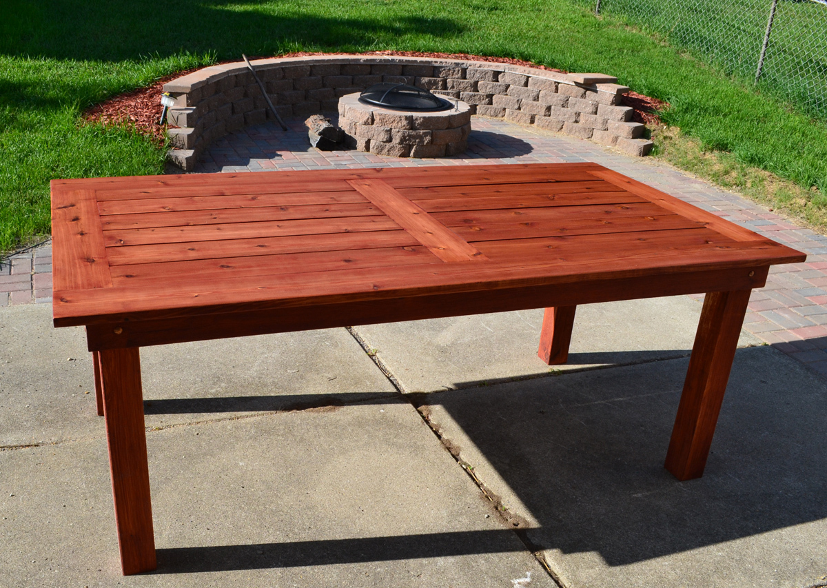 Ana White | Beautiful Cedar Patio Table - DIY Projects