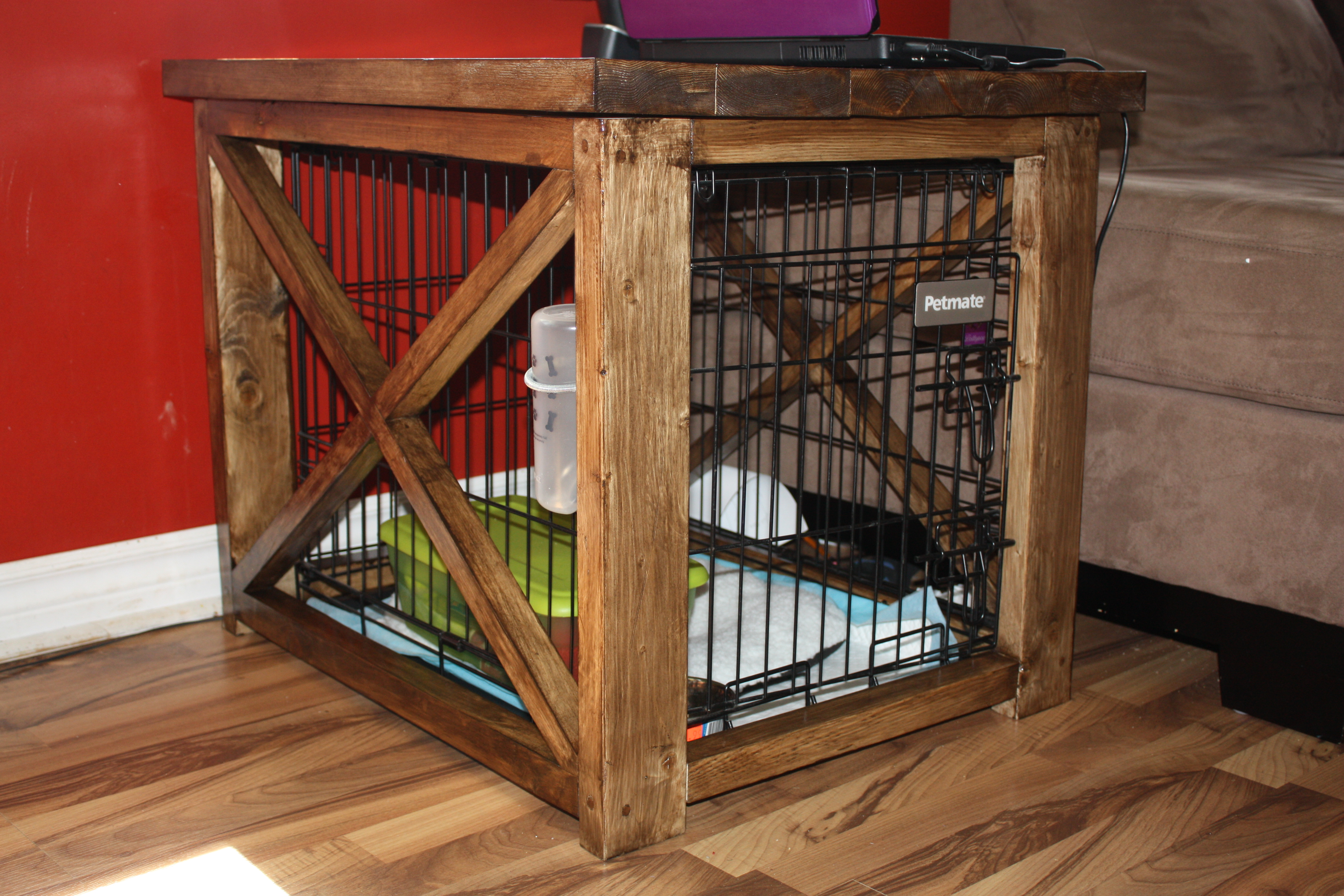 How to Make End Table Dog Crate