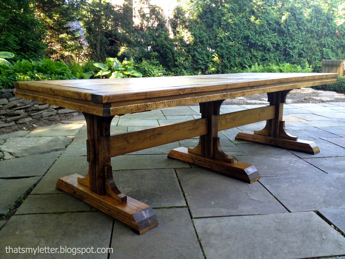 Ana White Triple Pedestal Dining Table Diy Projects