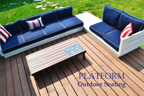 Ana White | Platform Outdoor Sectional - DIY Projects