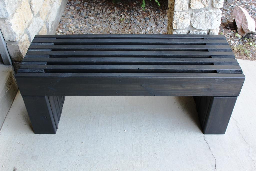 Modern Outdoor Wood Bench Images