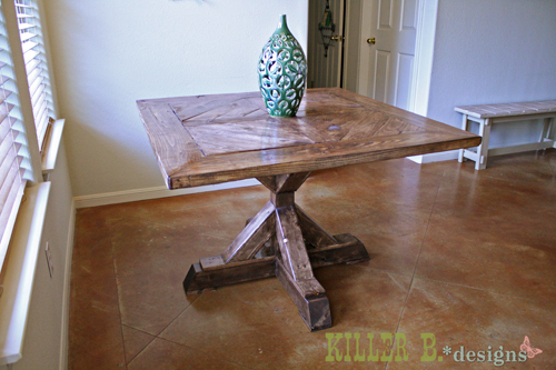 dining table pedestal plans