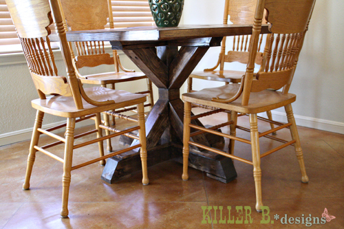 Wondrous 4X4 X Base Pedestal Dining Table With Planked Wood Top Ana Interior Design Ideas Clesiryabchikinfo