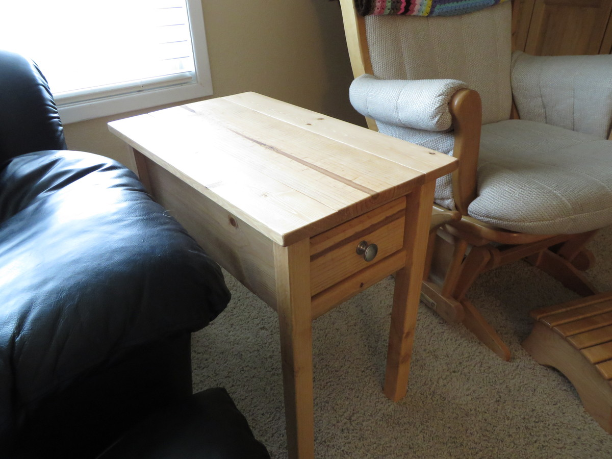 Narrow Cottage End Table