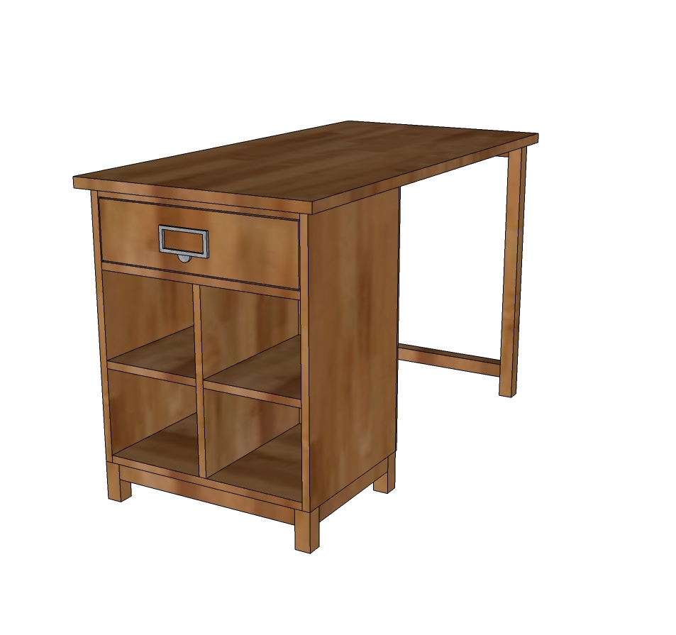 Ana white schoolhouse project table desk diy projects for Make a craft table