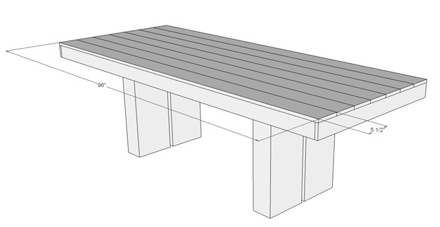 Plans For Outdoor Patio Table