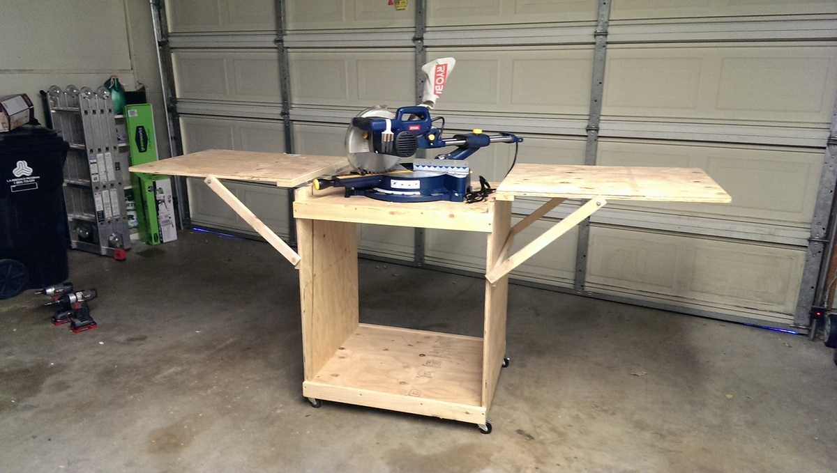 Dewalt Table Saw Stand With Wheels Mitre Saw Stand Plans Work Bench Nyw Jpg Pictures to pin on Pinterest