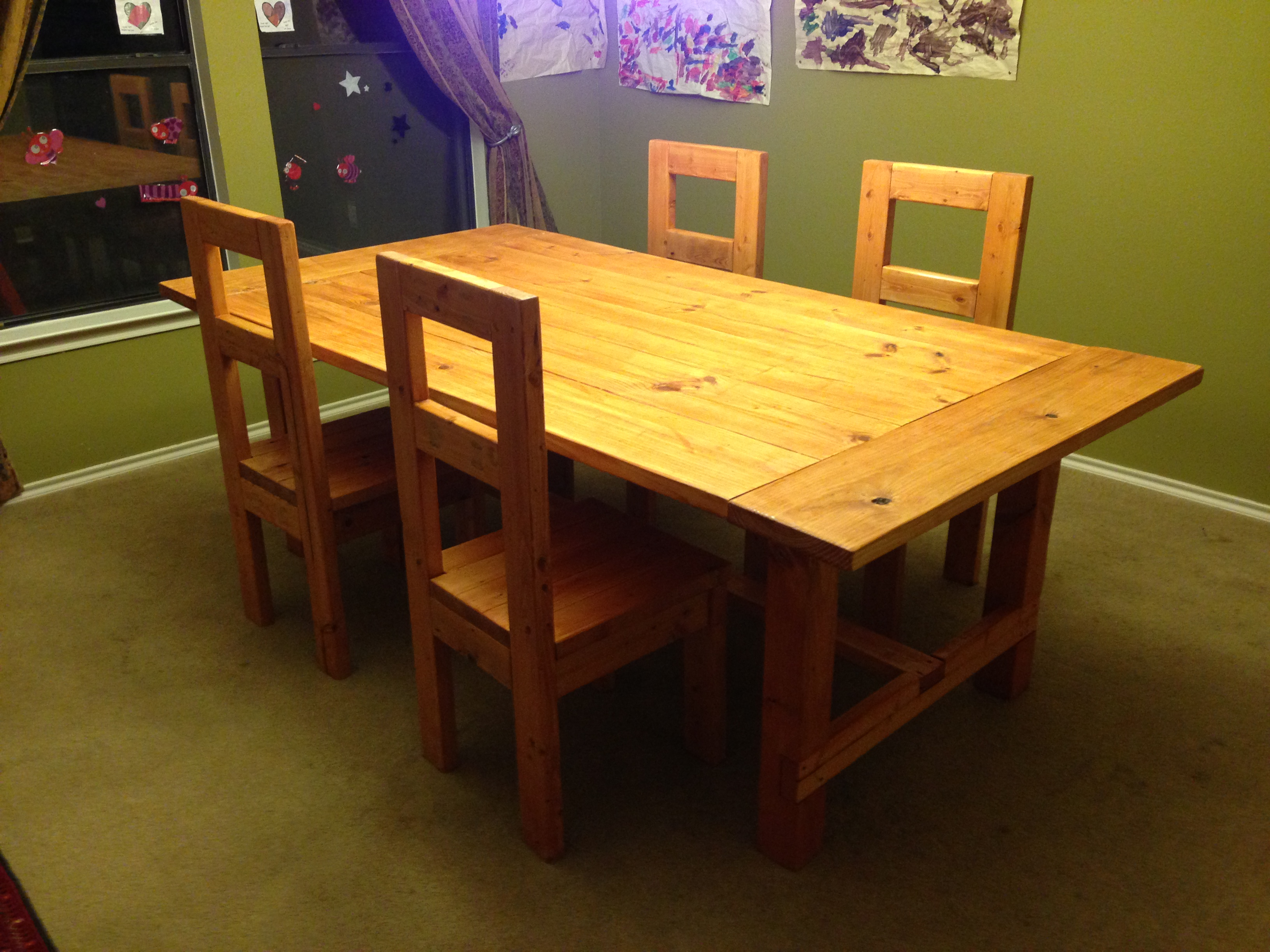 2X4 Dining Table and Chairs