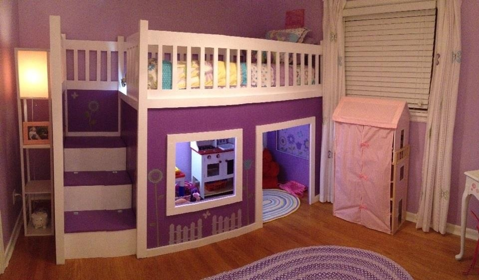 Ana White | Girl's Playhouse Loft Bed - DIY Projects