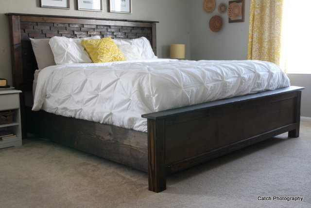Ana white wood shim cassidy bed queen diy projects for Wood bed frames for king size beds