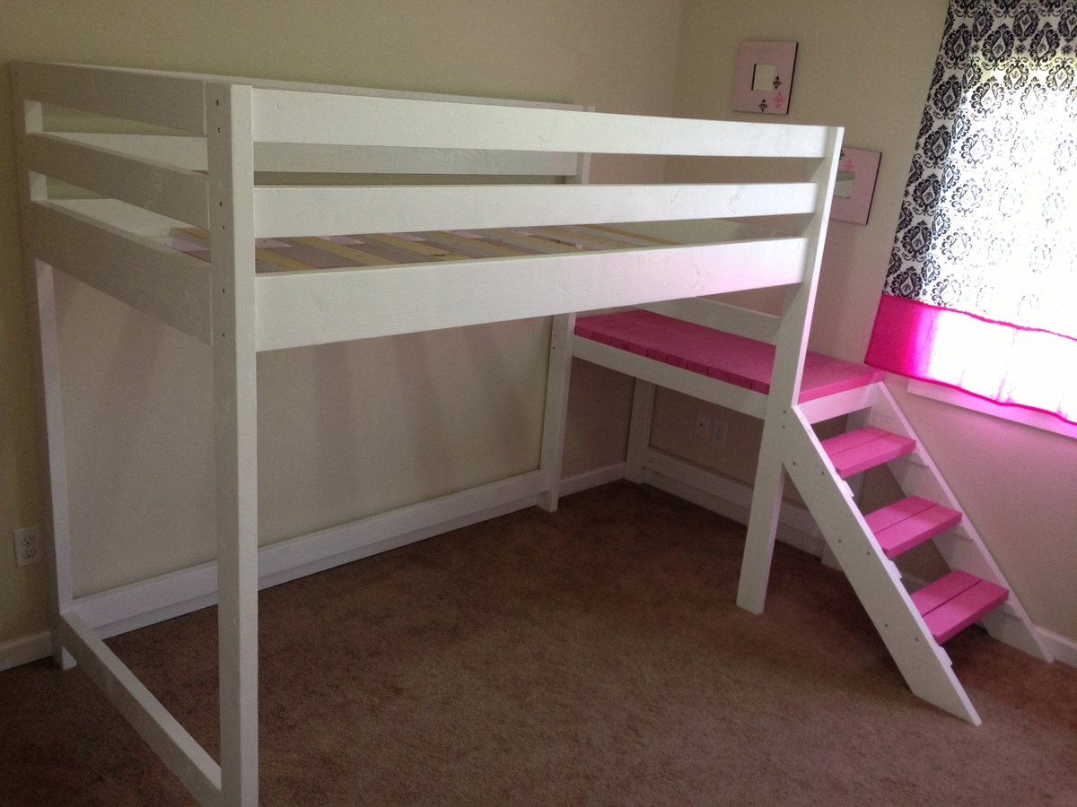 ... White | Camp Loft Bed with Matching Doll Sized Loft Bed - DIY Projects