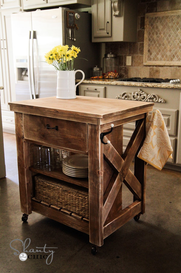 kitchen islands diy white rustic x kitchen island diy projects 13592