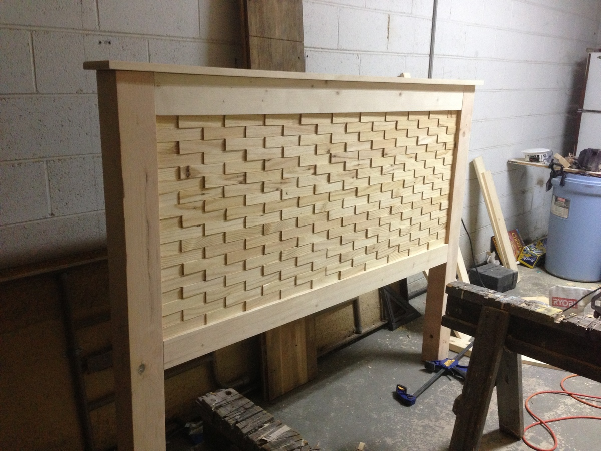 Ana white diy wood shim bed plans queen diy projects for Diy queen wood headboard