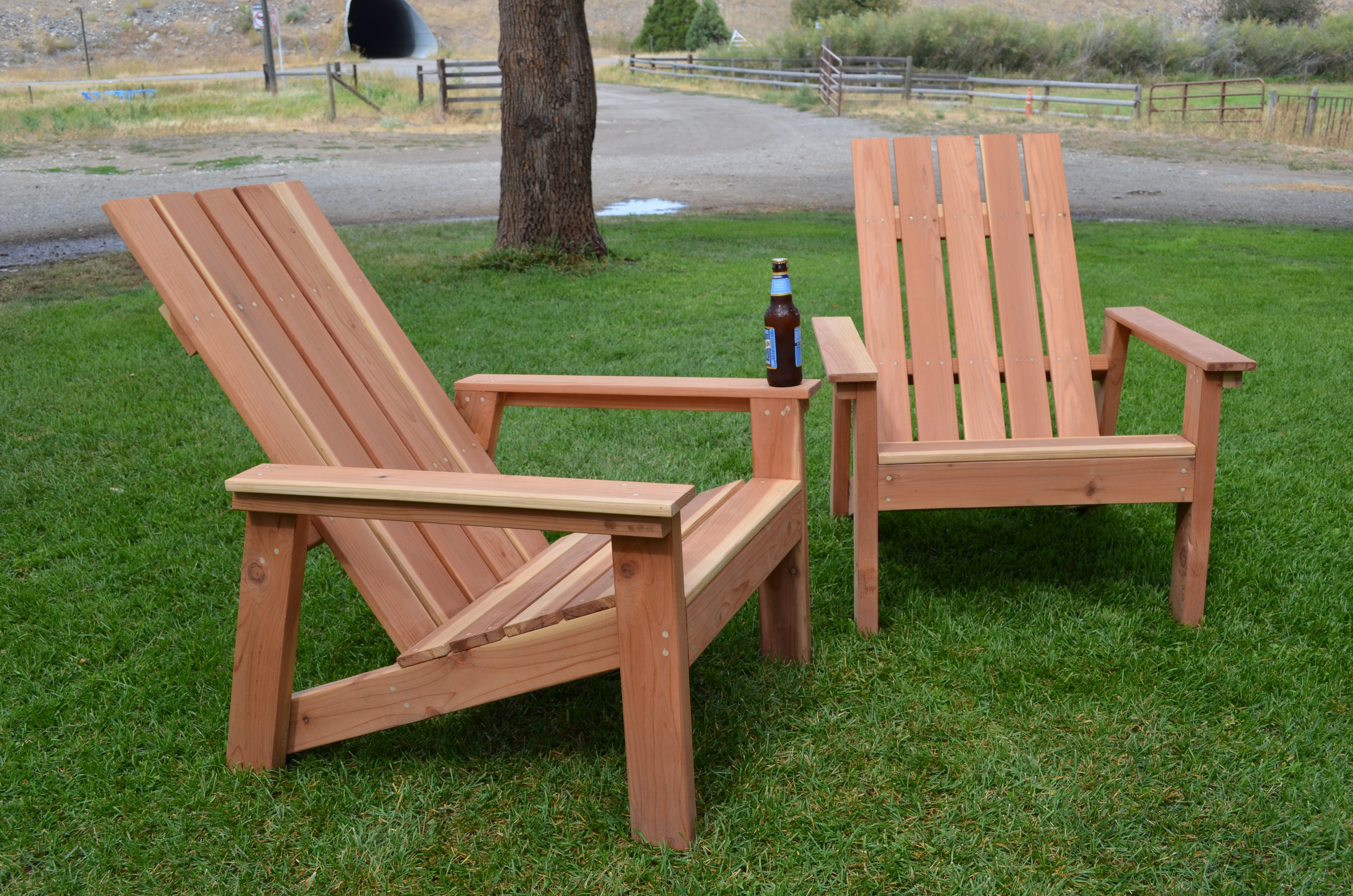 First Build - Redwood Adirondack Chairs | Do It Yourself Home Projects ...