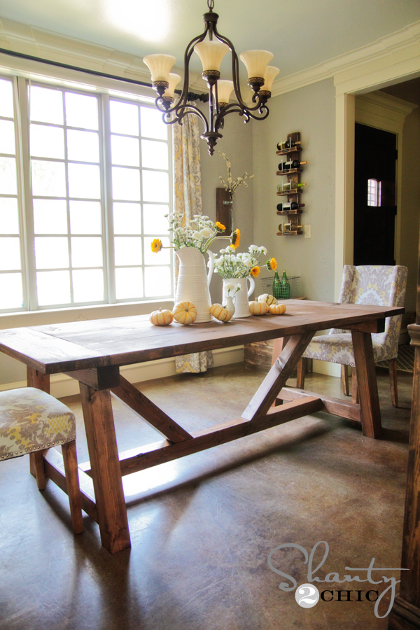ana white dining table plans
