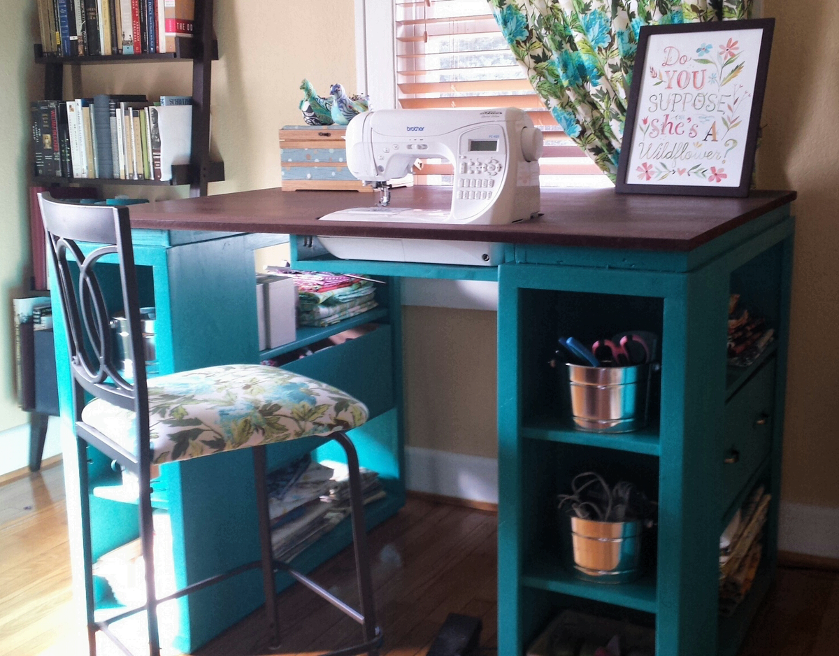 The Perfect Sewing Table Ana White